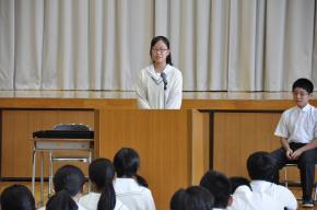 3学年代表生徒挨拶
