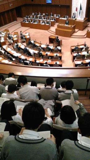 宮城県議会を見学