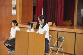 1学年代表生徒の挨拶